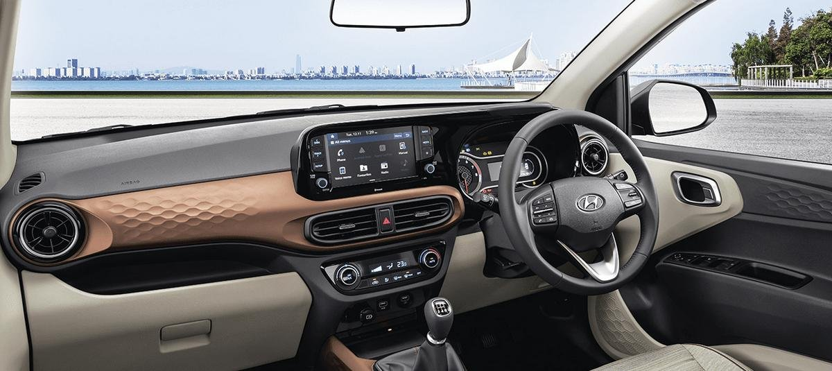 2020 Hyundai Aura interior dashboard