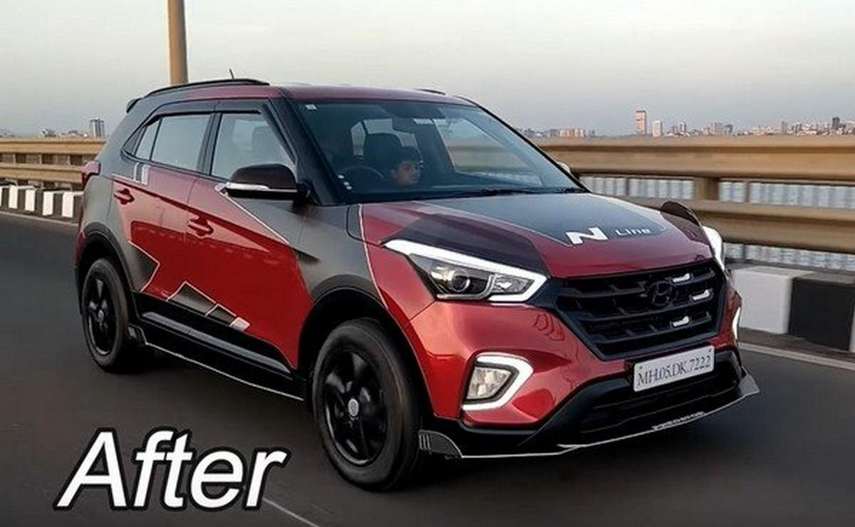 modified hyundai creta front angle