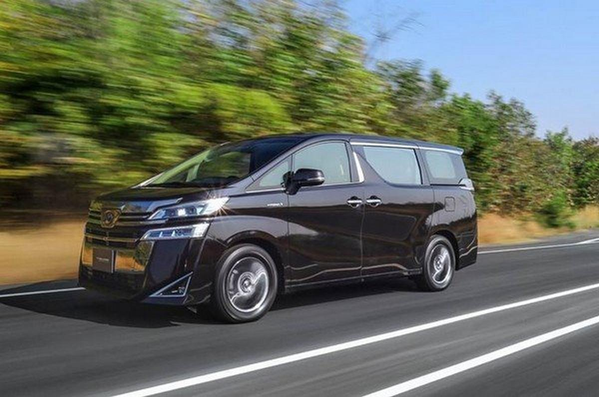 202 toyota vellfire black front angle
