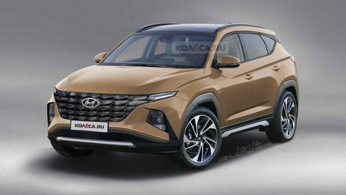 2021 hyundai tucson front angle rendered