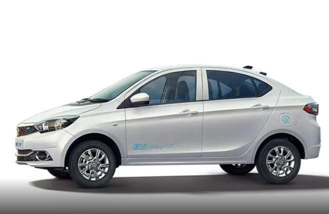 2021 Tata Tigor EV pearlescent white