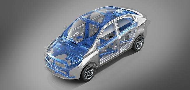 2021 Tata Tigor EV body structure