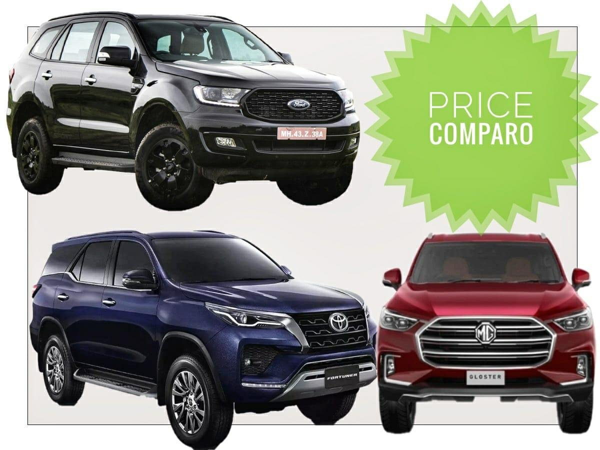Prices Comparison: Toyota Fortuner Facelift Vs Ford Endeavour & MG Gloster