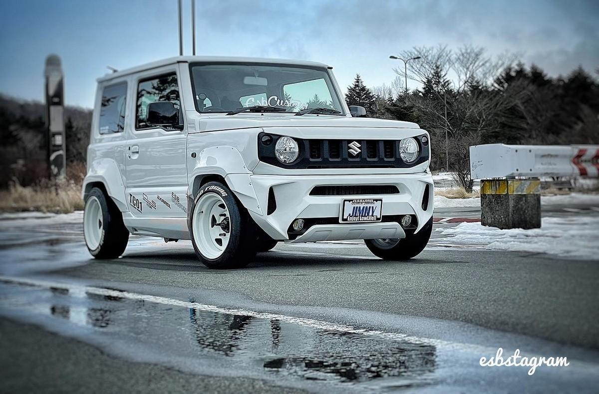 modified-suzuki-jimny-white-three-quarter-front
