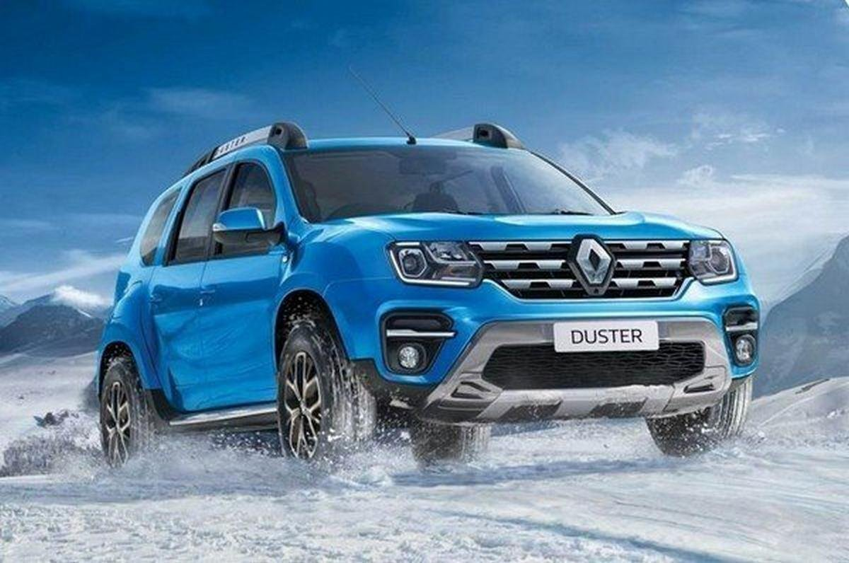 2020 renault duster blue colour front angle