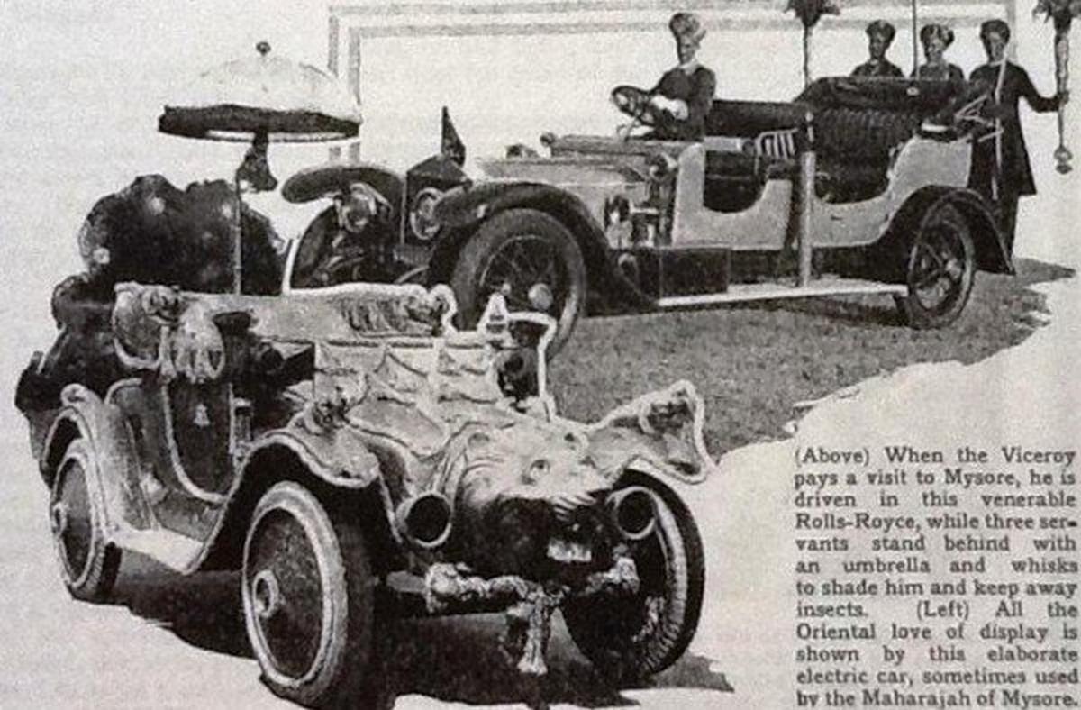 The Maharaja Of Mysore's Rolls-Royce fleet
