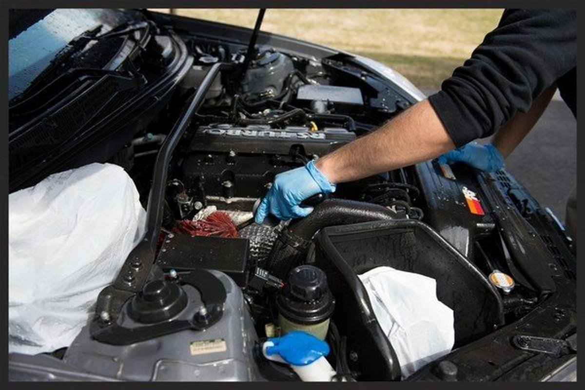 engine cleaning brush the engine bay