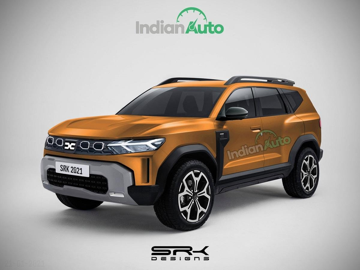 Production-spec Dacia Bigster Concept Rendered in Multiple Colours Desert Ornage