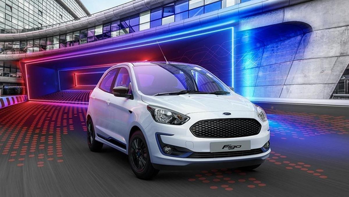 Ford Figo front look white color