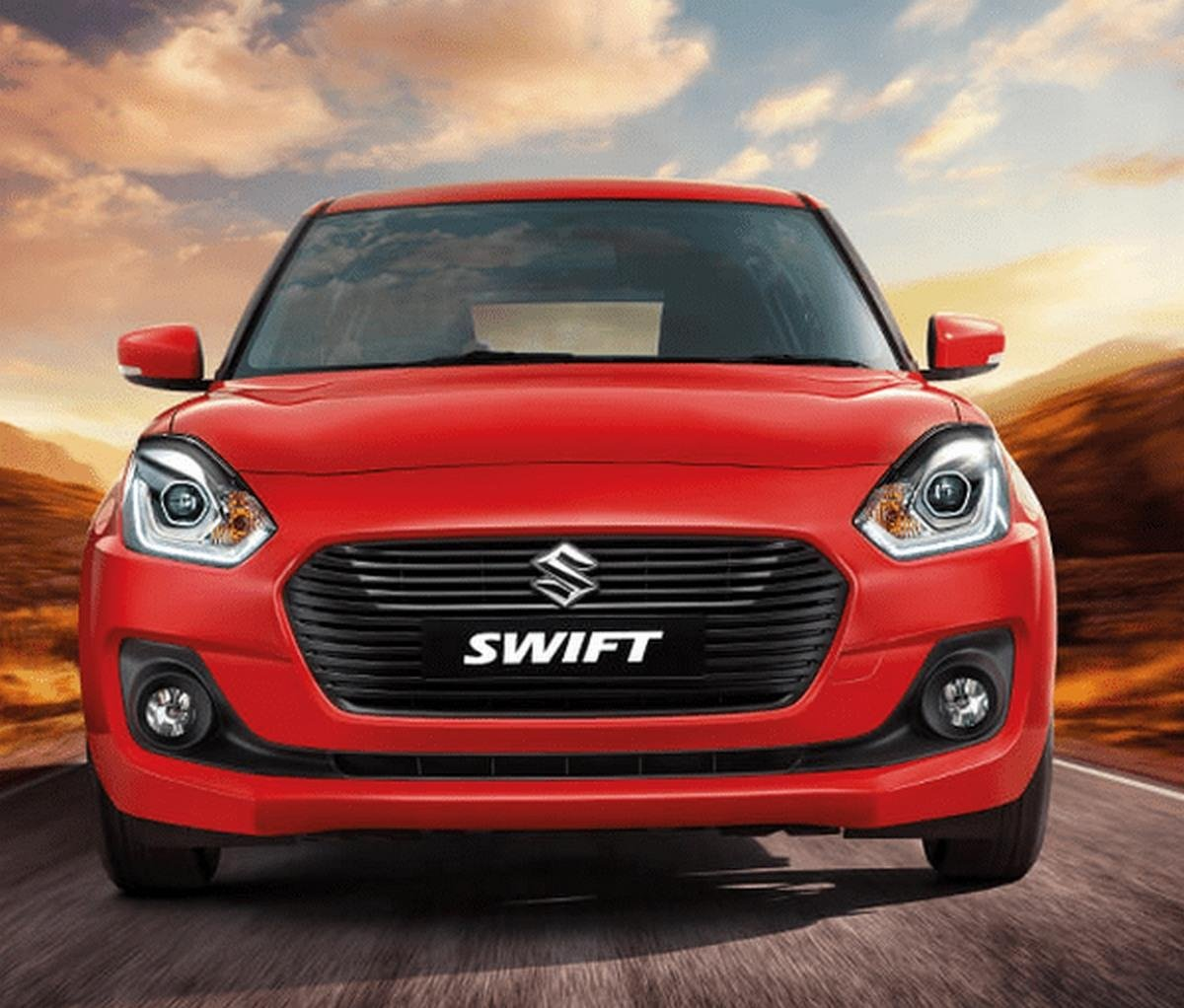 Maruti Swift red color front look