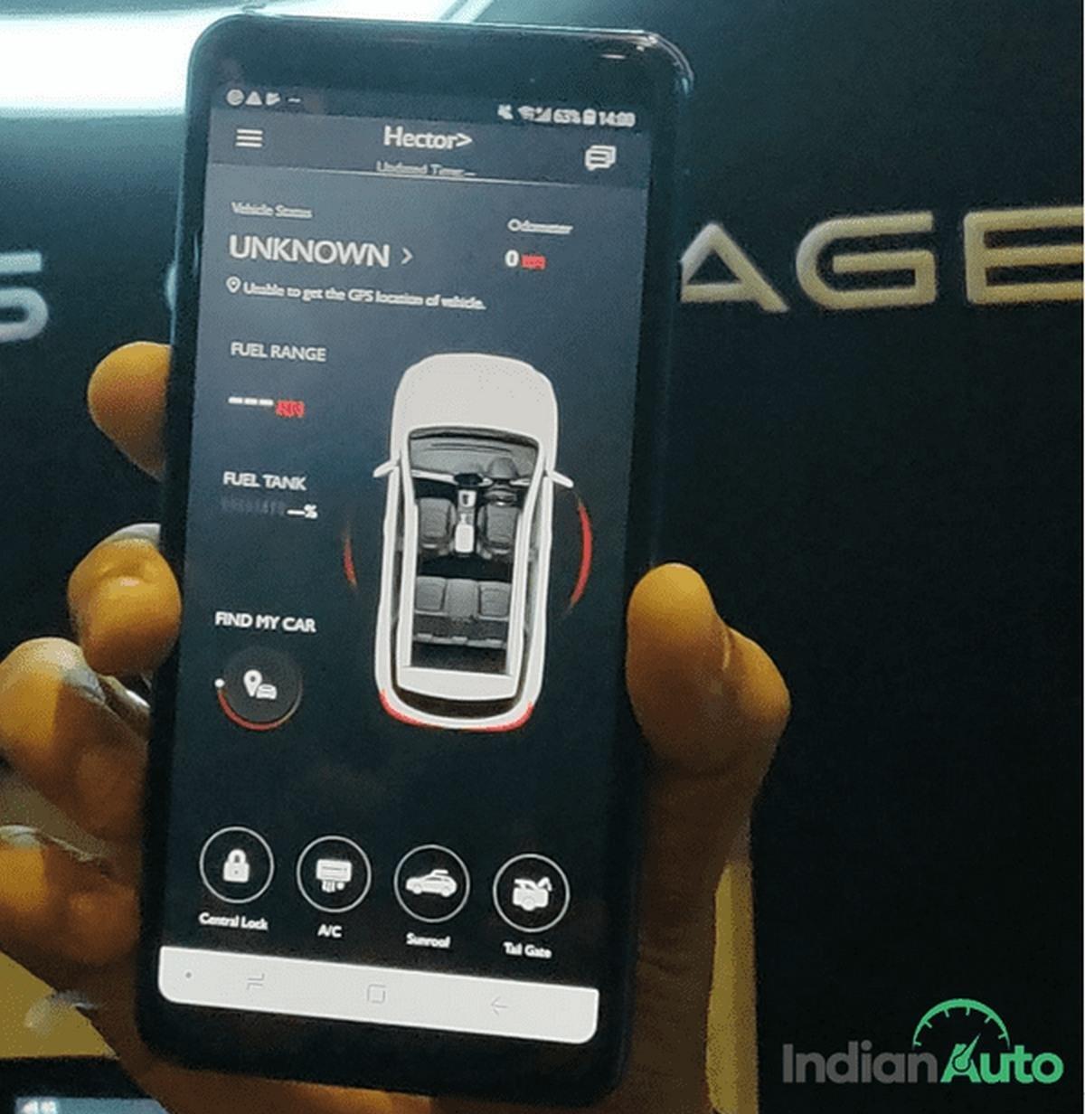 MG Hector smartphone apps
