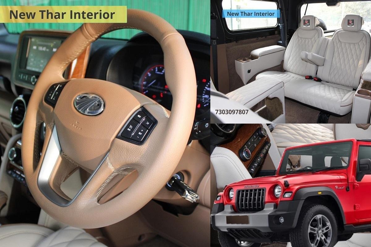 Mahindra Thar With Dual-Tone Beige-Black Interior Looks Upmarket
