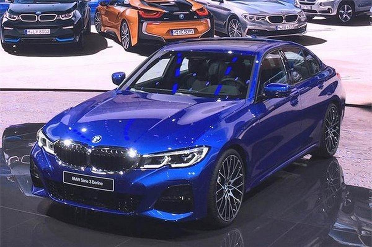 The BMW 3 Series blue