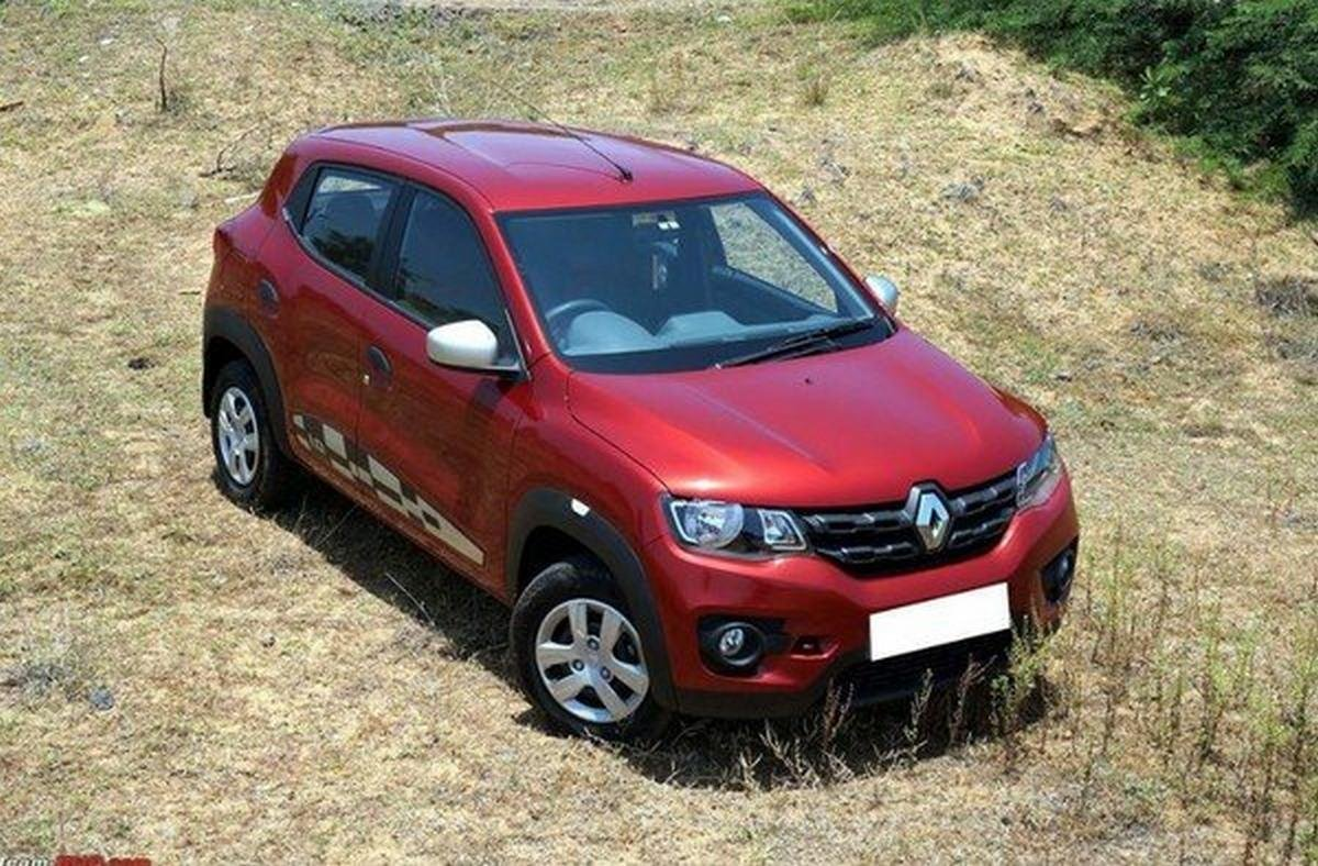 used Renault Kwid red shot from the above