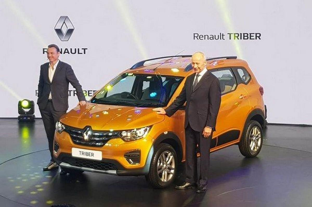 renault triber 2019 yellow launch event