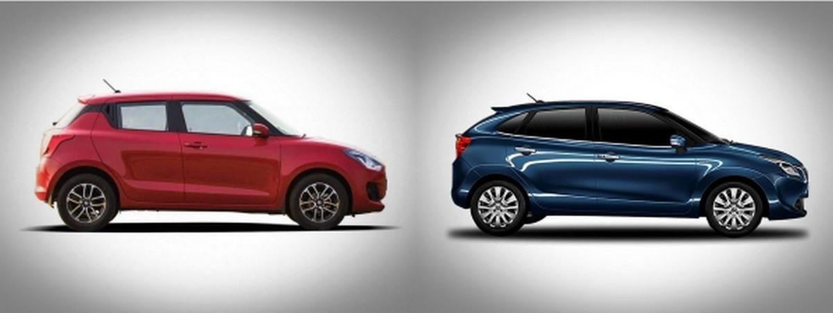 Maruti Swift vs Maruti Baleno side profile