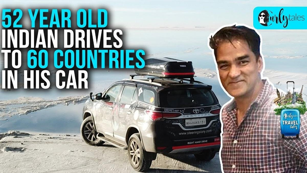 52-Year Old Indian Drives to Over 60 Countries in His Car – VIDEO