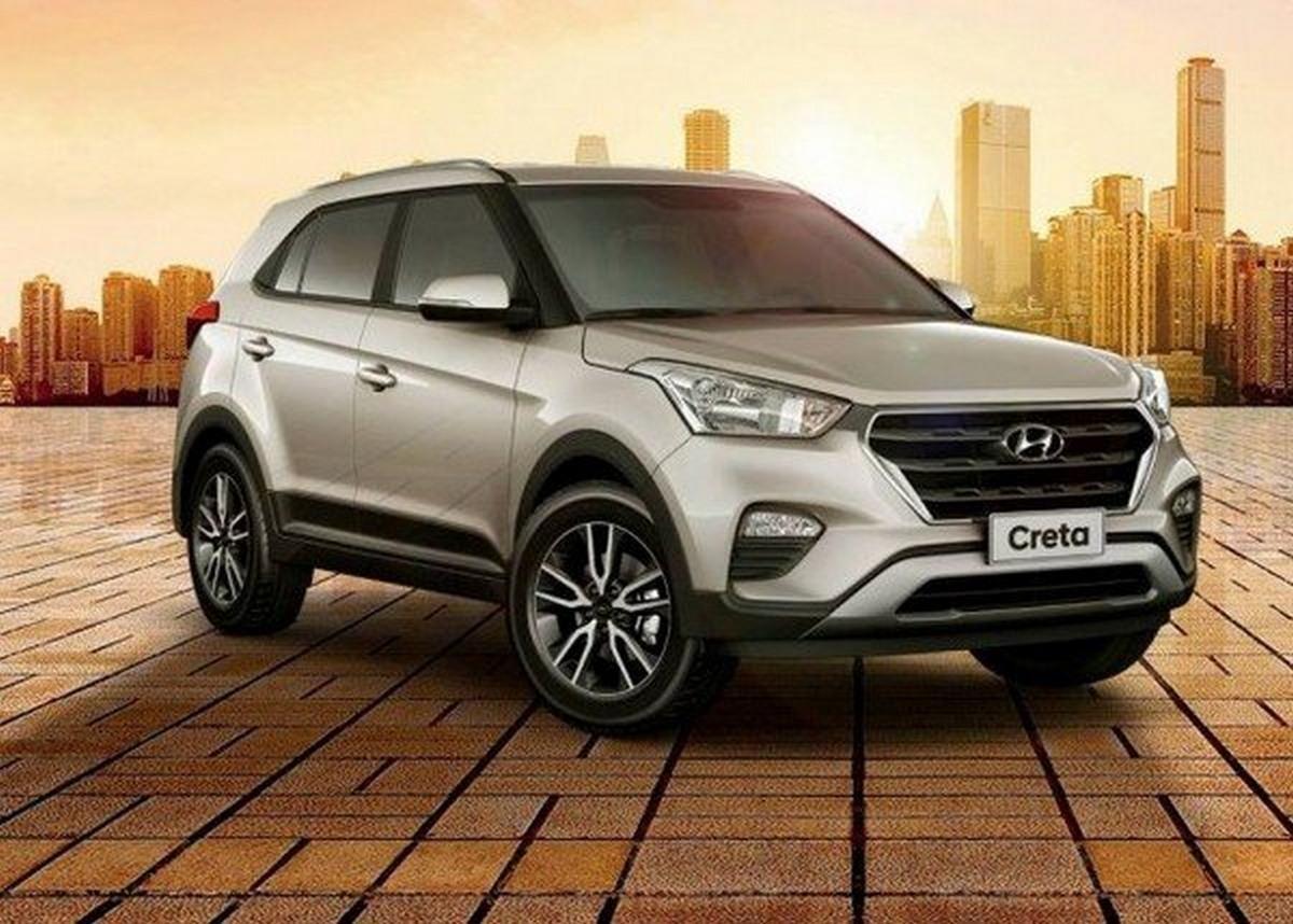 Hyundai Creta 2019 silver colour angular look
