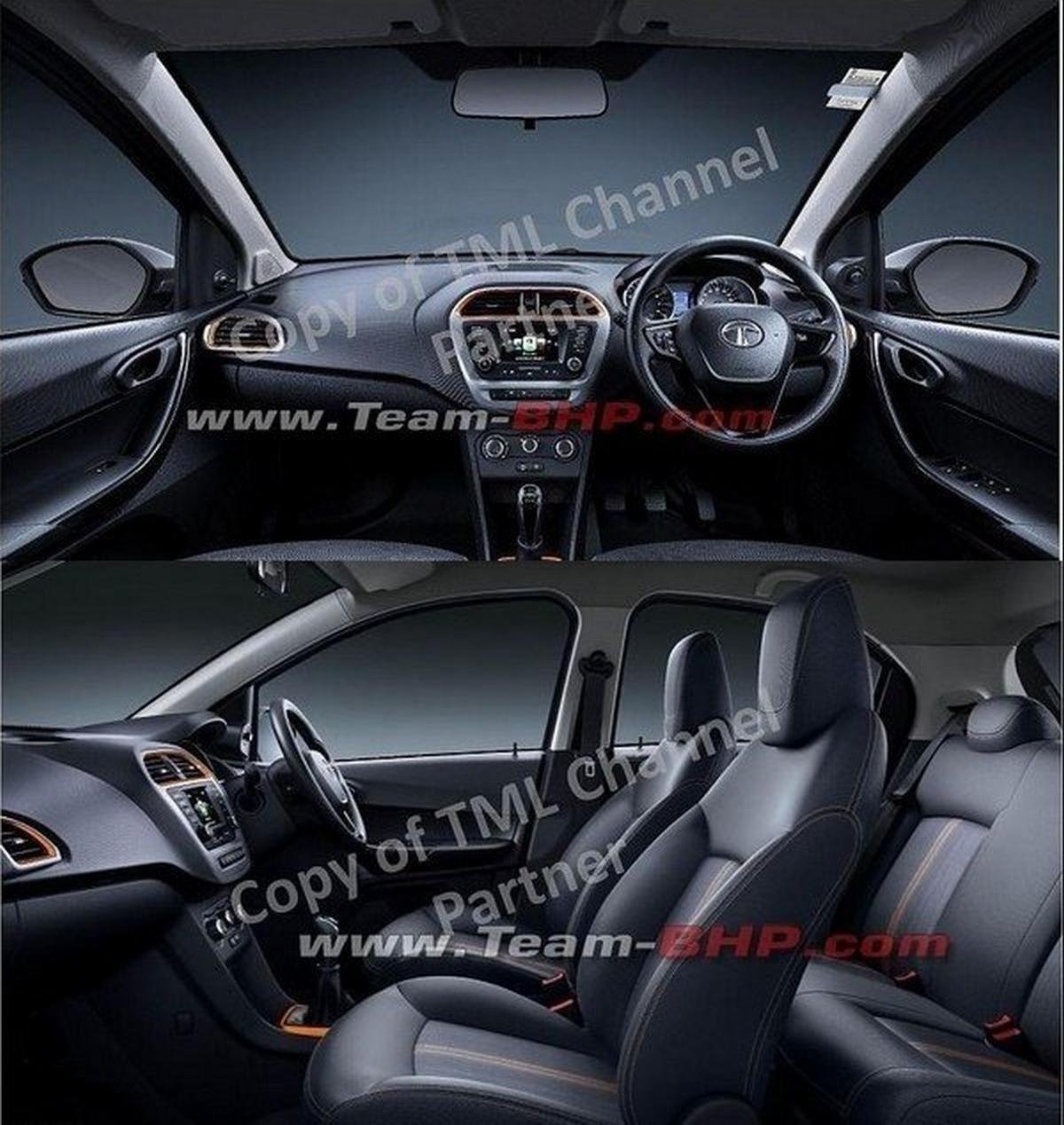 Tata Tiago NRG dashboard and seats