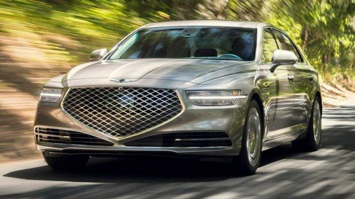 genesis g90 2020 facelift front angle