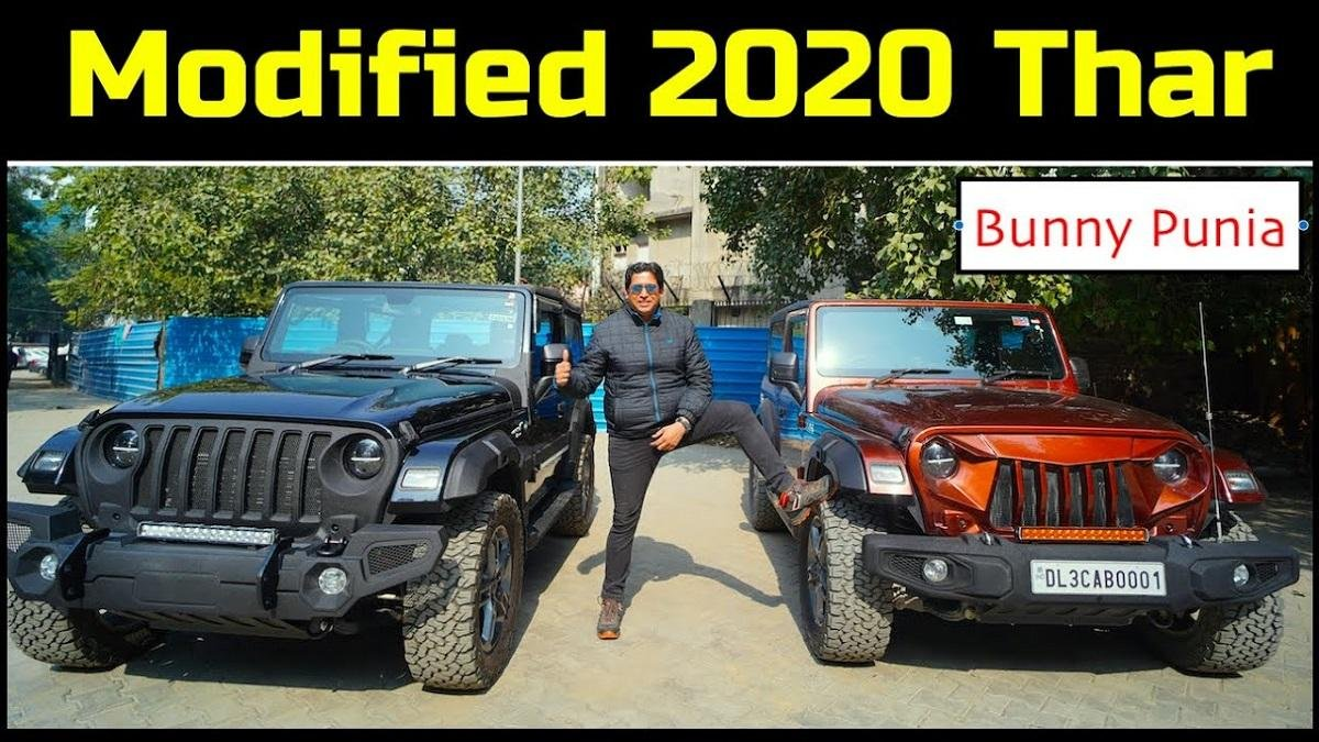 2020 Mahindra Thar Examples Look Uber Cool with Modifications from Bimbra 4x4
