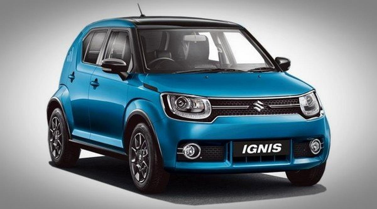 Maruti Ignis blue front view