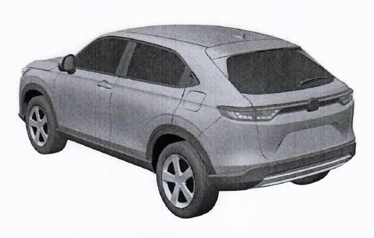 2021 Honda HR-V Leaks in New Patent Images Ahead of Unveil on 18 Feb