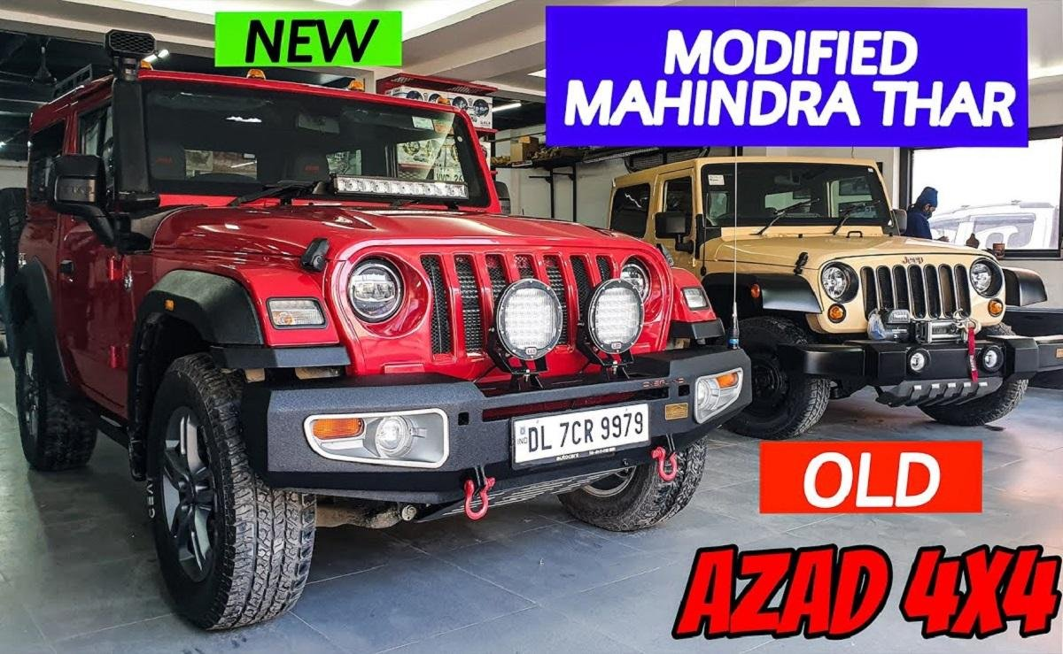 Modified Mahindra Thar from Azad 4x4 Gets Practical Mods, Prices Inside