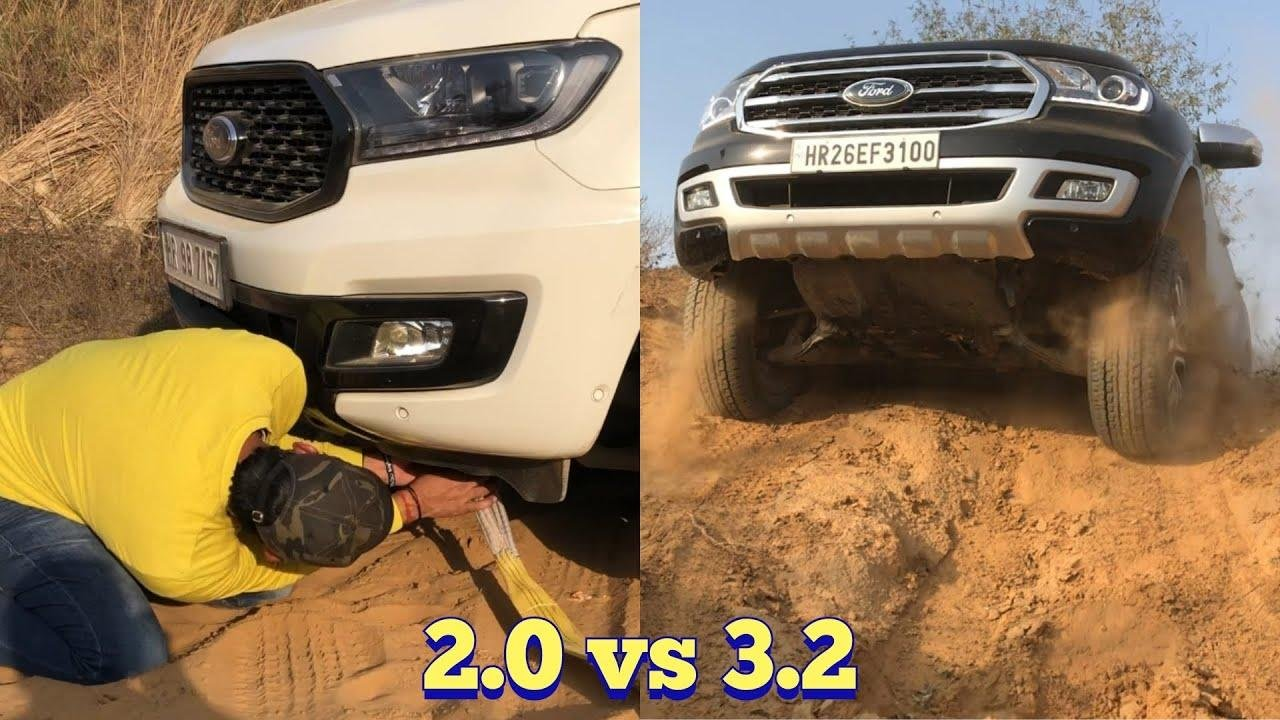 Ford Endeavour 3.2 Gets Beached, Has To Be Pulled Out By Smaller 2.0 -VIDEO