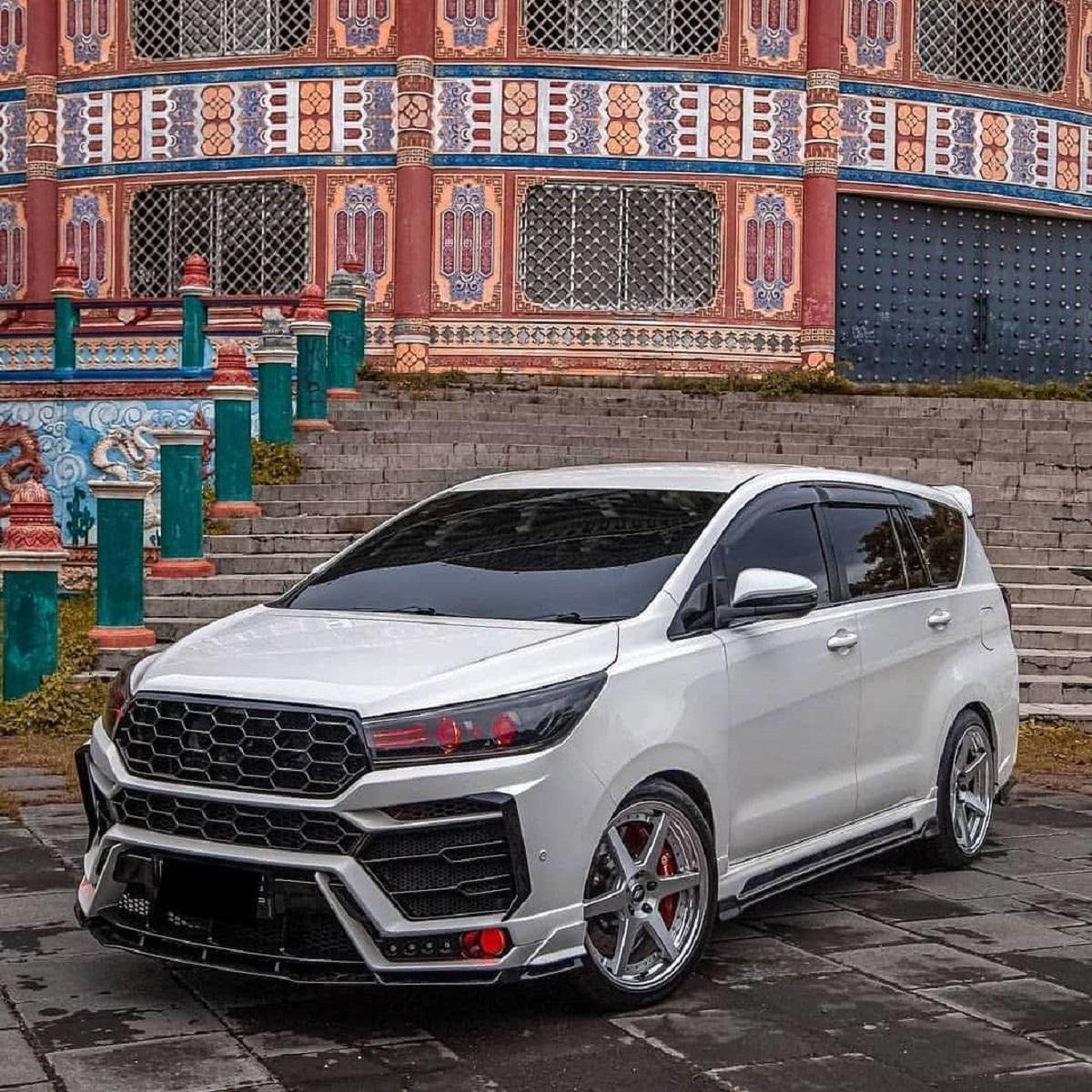 Innova Crysta With Lamborghini Urus Inspired Body Kit And Lowered Ride Height Looks Mean