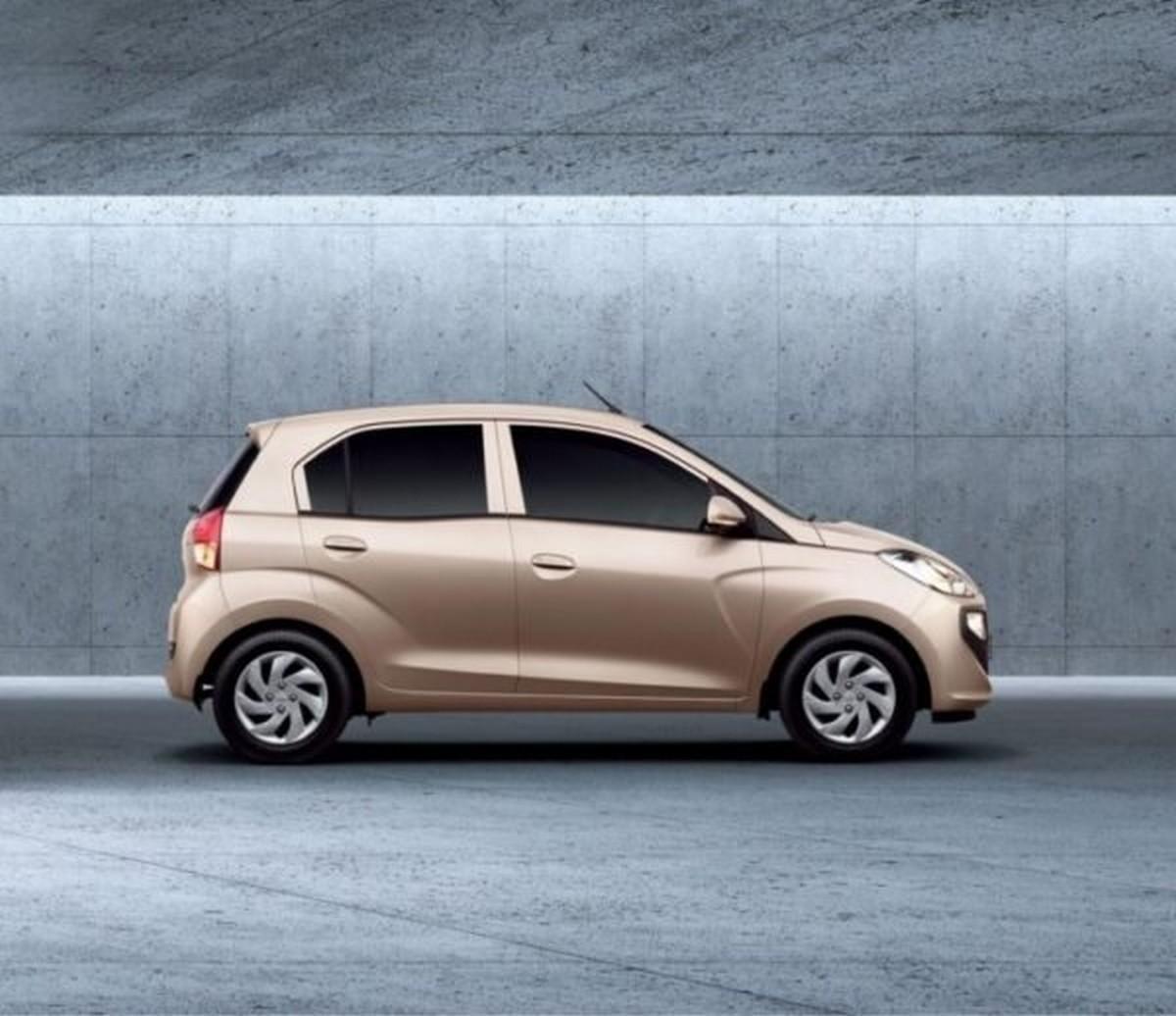 Hyundai Santro golden side look