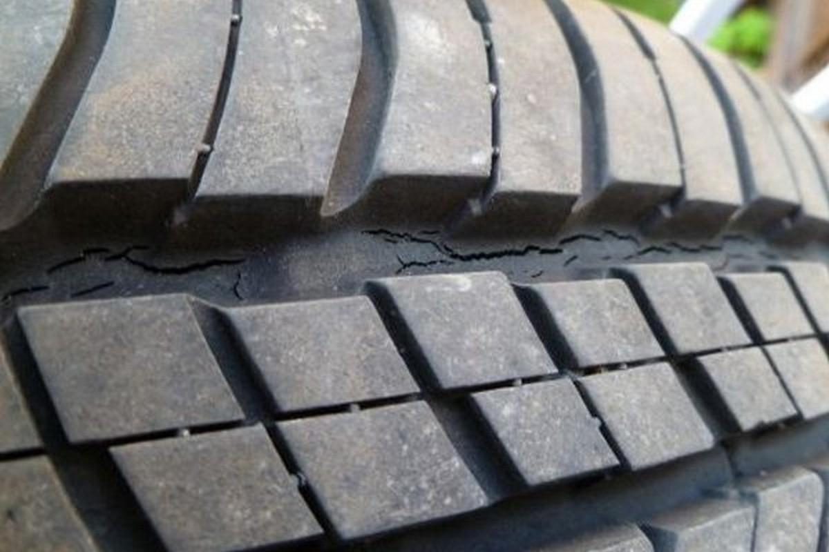 cracks on a tire