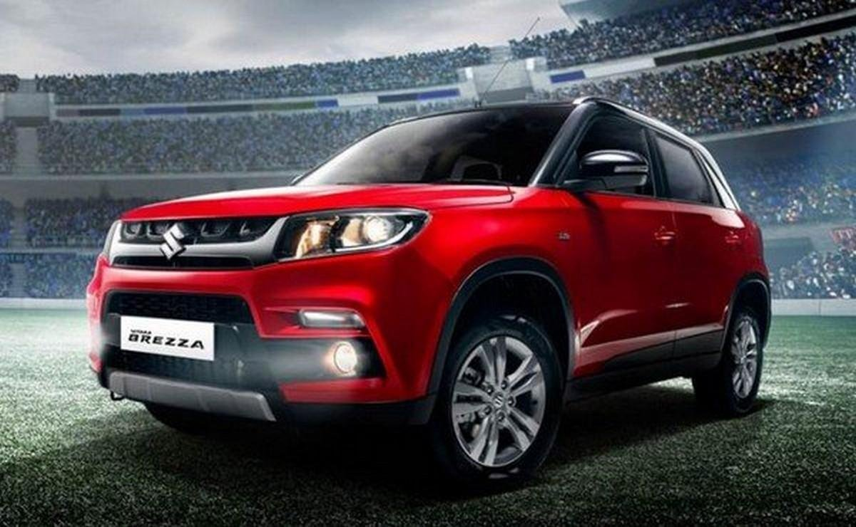 highest mileage in India Maruti Vitara Brezza 2018 side