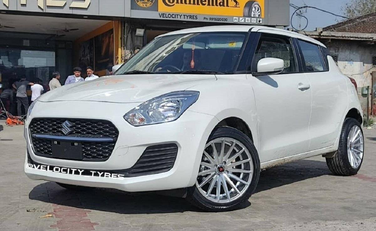 This Facelifted Maruti Swift Gets New 17-Inch Alloys