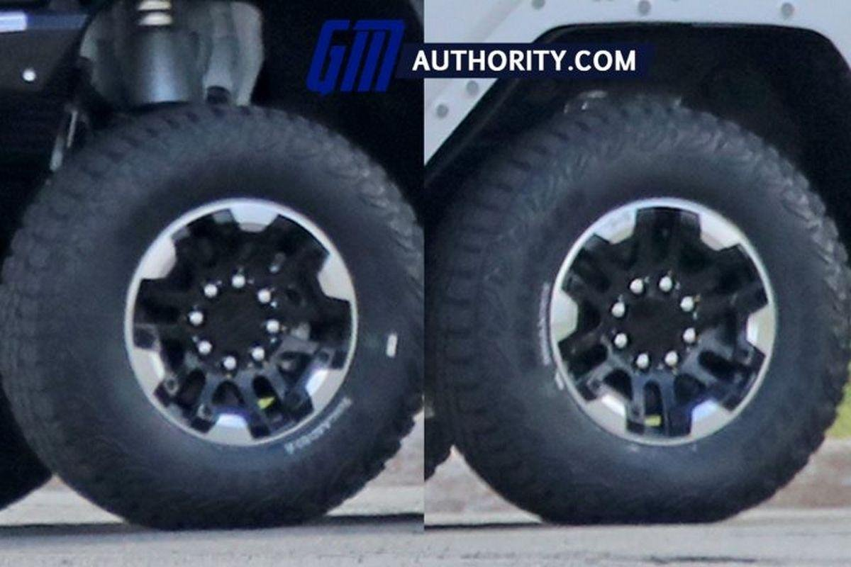 Front-and-rear-wheel-of-GMC-Hummer-EV