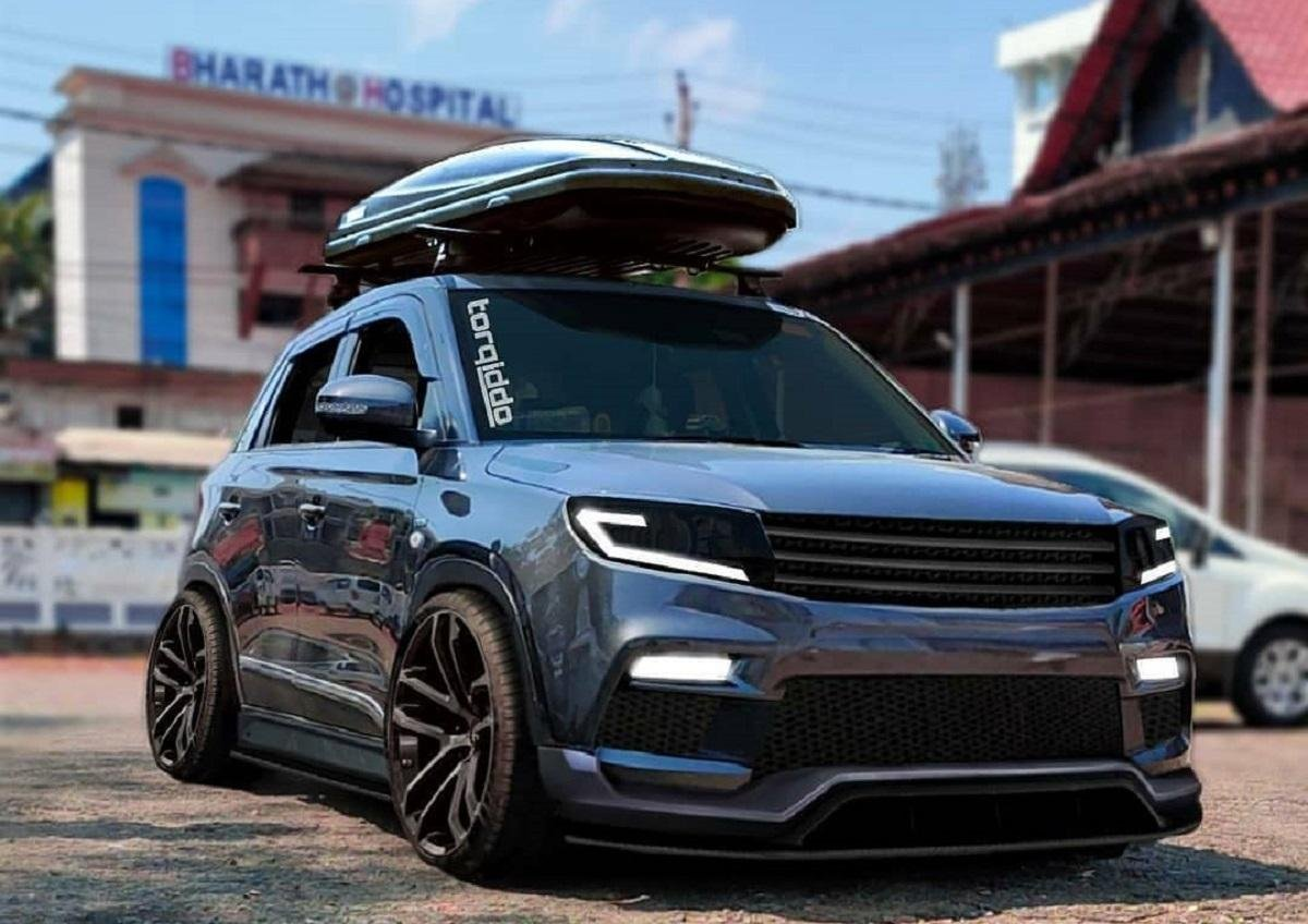Slammed Maruti Vitara Brezza Render Looks Cool In Grey