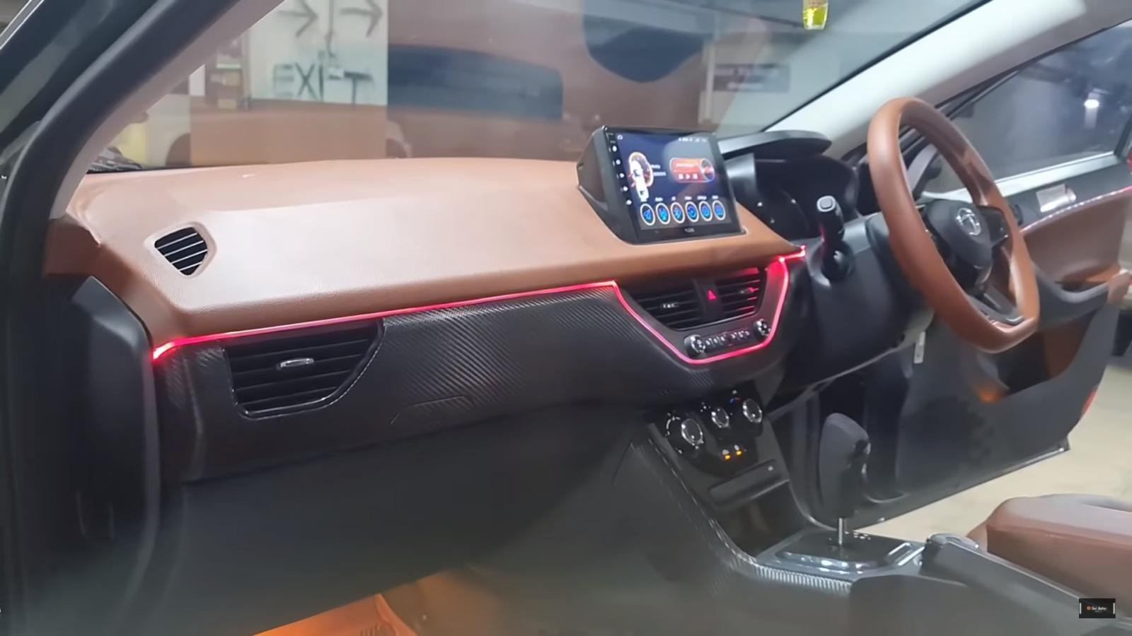 This Tata Nexon Gets A Leather And Carbon-Fibre Interior - VIDEO