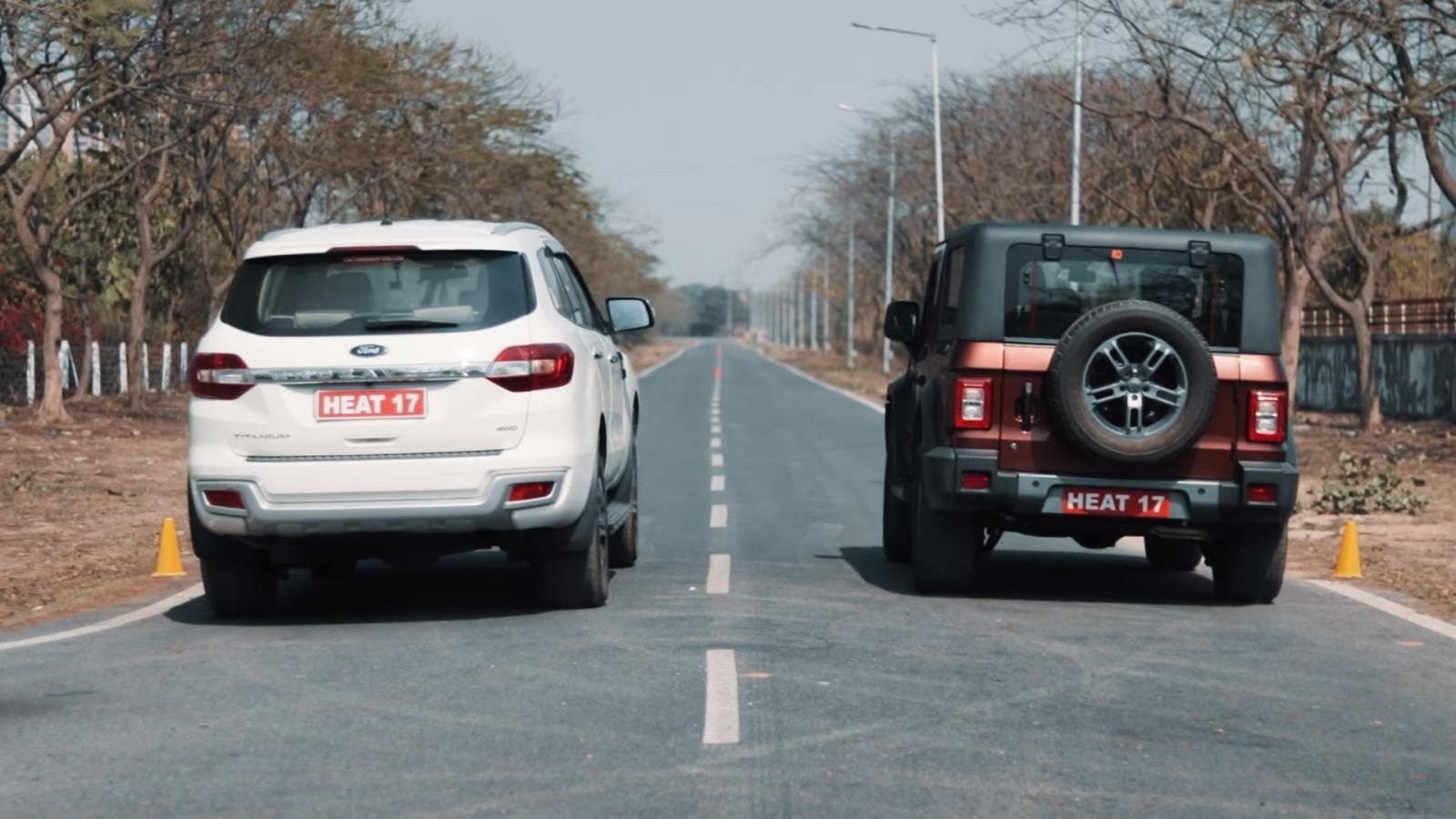 2020 Mahindra Thar Takes On Ford Endeavour In A Drag Race - VIDEO