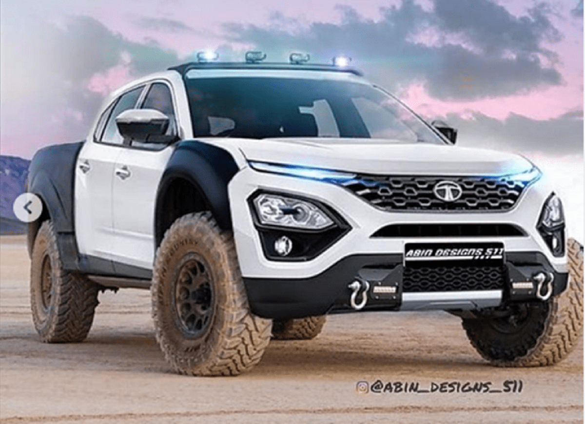 This Tata Harrier Pick-Up Render Is Ready To Tackle Any Terrain