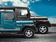 mahindra thar 700 blue side profile