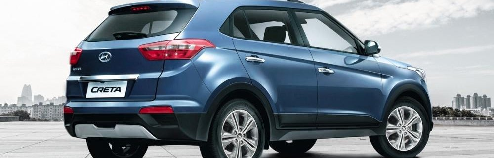 Hyundai Creta 2018 light blue colour rear look