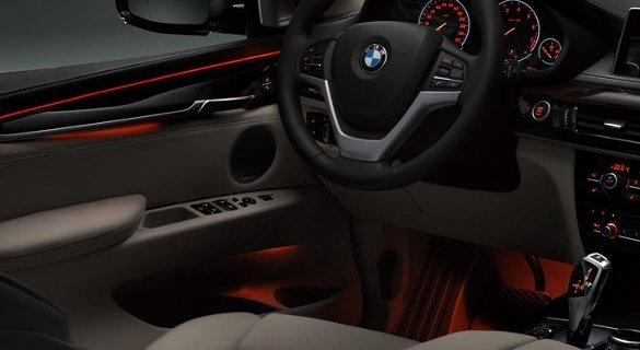 2018 bmw x5 red-black themed interior
