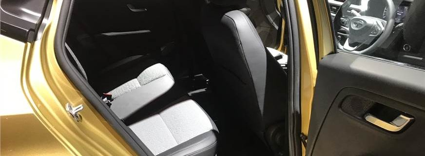 2019 Tata Altroz interior rear seat