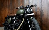 Royal Enfield Classic 500 Desert Storm customised into Scambler