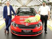 Skoda Rapid Records 1 Lakh Production Milestone in India