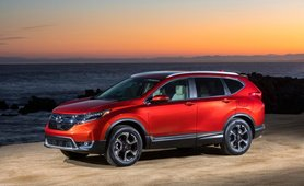 Honda CR-V 2018 red colour body look