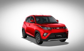 Mahindra KUV100 exterior red colour