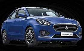 Maruti Suzuki Dzire 2019 front angle Look blue color