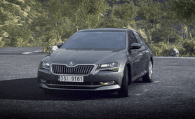 skoda superb 2019 India front look silver color