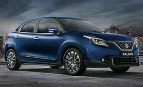 2018 maruti baleno blue near front right view